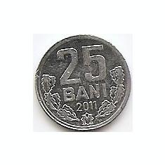 Moldova 25 Bani 2011 - Aluminiu, 17.5 mm, KM-3, Europa