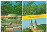 CPI (B6540) CARTE POSTALA - LIPOVA. STRANDUL, CETATEA SOIMUS, MANASTIREA MARIA..