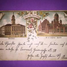 Bukowina - Czernowitz - Cernauti - Litografie - Carte Postala Bucovina 1904-1918, Circulata, Fotografie