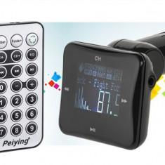 Modulator FM RDS auto display 1.4 INCH USB max 16GB Peiying 3.5mm Jack - Modulator FM auto, Modulator FM Stereo