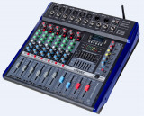 MIXER CU PUTERE 560 WATT,6 CANALE,MP3 PLAYER USB,BLUETOOTH,RADIO FM,EFECTE VOCE.