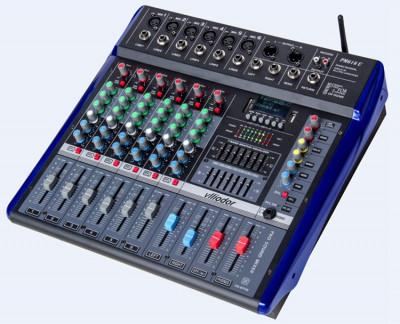 MIXER CU PUTERE 560 WATT,6 CANALE,MP3 PLAYER USB,BLUETOOTH,RADIO FM,EFECTE VOCE. foto