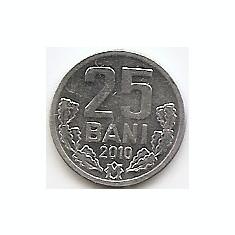 Moldova 25 Bani 2010 - Aluminiu, 17.5 mm, KM-3, Europa