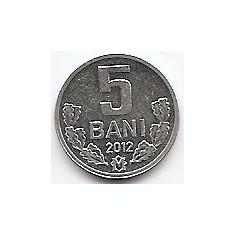 Moldova 5 Bani 2012 - Aluminiu, 16 mm, KM-2, Europa