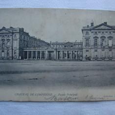 Carte postala circulata in anul 1904 - Chateau de Compiegne, Franta, Printata