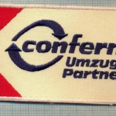 146 -EMBLEMA -CONFERN UMZUGS-PARTNER -FIRMA GERMANA COLETE -starea care se vede - Uniforma militara