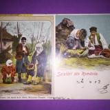 Port Popular - Litografie - Carte Postala Muntenia 1904-1918, Circulata, Fotografie