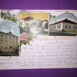 Colaj Ins. Sta. Maria - Braila, Craiova, Turnu Severin - Litografie - Carte Postala Muntenia 1904-1918, Circulata, Fotografie