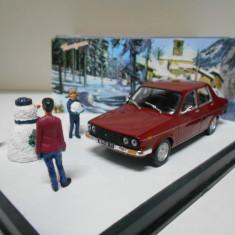 Macheta + Diorama Renault 12 TL - ROUTE BLEU scara 1:43 - Macheta auto