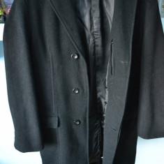 Palton lana de LUX marimea M/L CLASSIC LEGEND / Haina iarna barbati LANA 100% - Palton barbati Alcatel, Marime: 48, Culoare: Negru