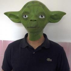 Masca Star Wars master Yoda, latex, pentru amuzament, petreceri - Masca carnaval, Marime: Marime universala, Culoare: Verde