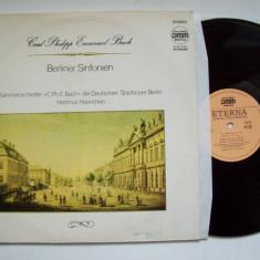 Disc vinil CARL PHILIPP EMANUEL BACH - Berliner Sinfonien (Eterna - DMM) - Muzica Clasica electrecord