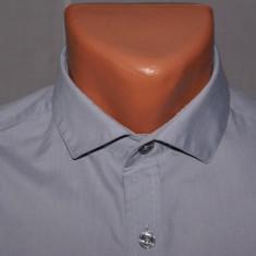 Camasa barbati Hugo Boss RIVER ISLAND marimea XS / S gri cu guler cutaway minimalist, Maneca lunga