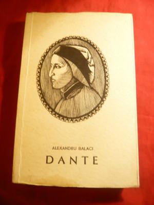 Alexandru Balaci - DANTE- Colectia Oameni de Seama Ed. Tineretului 1966 foto