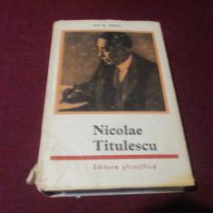 ION OPREA - NICOLAE TITULESCU - Istorie