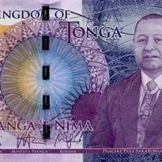 Tonga 5 Pa'anga (nedatata; circa 2015; regele Topou VI) P-New UNC !!!
