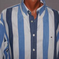 Camasa barbati TOMMY HILFIGER albastra in dungi marimea XXL, Culoare: Albastru, Maneca lunga
