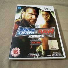Smack Down vs Raw 2009, pentru Wii, original, alte sute de jocuri, Sporturi, 16+, Multiplayer, Thq