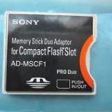 ADAPTOR CF SONY MEMORY STICK DUO ADAPTOR FOR COMPACT FLASH SLOT SONY AD-MSCF1