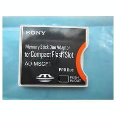 Cumpara ieftin ADAPTOR CF SONY MEMORY STICK DUO ADAPTOR FOR COMPACT FLASH SLOT SONY AD-MSCF1