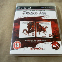 Joc Dragon age origins ultimate Edition, PS3, original, alte sute de jocuri! - Jocuri PS3 Electronic Arts, Role playing, 18+, Single player