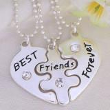 Pandantiv / Colier / Lantisor - BFF - Best Friends Forever - 3 Bucati