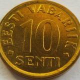 Moneda 10 Senti - ESTONIA, anul 2008 *cod 2592 UNC, Europa