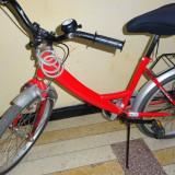Bicicleta DHS copii 7-12 ani, rosie