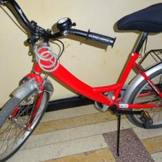 Bicicleta DHS copii 7-12 ani, rosie - Bicicleta copii DHS, 16 inch, 20 inch, Otel, Numar viteze: 1