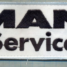 178 -EMBLEMA -AUTOMOBILISTICA - MAN SERVICE -starea care se vede