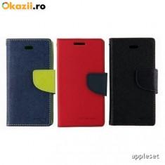 Husa ALLVIEW P6 Qmax Flip Case Inchidere Magnetica Neagra - Husa Telefon Allview, Negru, Piele Ecologica, Cu clapeta, Toc