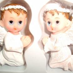 Set 6 Ingerasi ceramica cu magnet, 6 -7 cm, decor frigider sau marturii - Marturii nunta