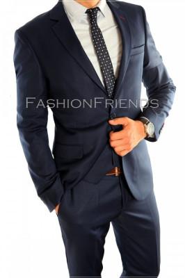 Costum tip ZARA - sacou + pantaloni - costum barbati casual office  - 4603 foto