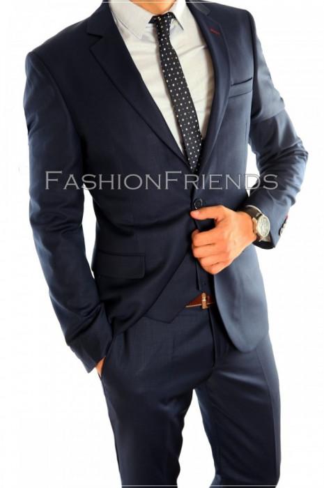 Costum tip ZARA - sacou + pantaloni - costum barbati casual office  - 4603 foto mare