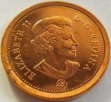 Moneda 1 Cent - CANADA, anul 2012*cod 2568 UNC, America de Nord