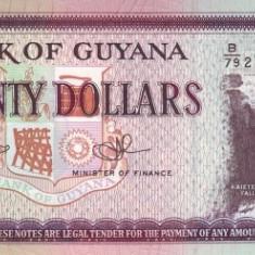 Guyana 20 Dolari - (nedatata; circa 2009) P-30e UNC !!! - bancnota america