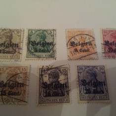 Germania/ocupatia in belgia/ 1914-16 uzuale supratipar / 16 euro, Stampilat