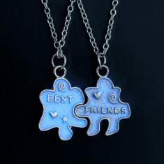Pandantiv / Colier / Lantisor -  SET BFF /Best Friends Forever - Puzzle