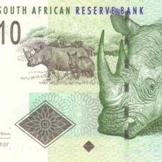 Africa de Sud 10 Rand (nedatata ~ 2005-2009; signature: Mboweni) P-128a UNC !!! - bancnota africa