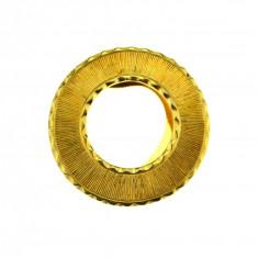 Inel pentru esarfa placat aur, gold plated 18 k, duble, design geometric vintage - Brosa placate cu aur
