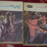 BPT 869 & 870 - WALTER SCOTT - ROB ROY (2 volume) - Coperta Pompiliu Dumitrescu - Roman, Anul publicarii: 1976