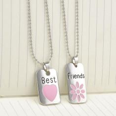 Pandantiv / Colier / Lantisor - BFF - Best Friends Forever - 2 Buc - Pandantiv fashion