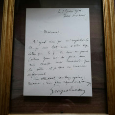 George Enescu (1881-1955) - Scrisoare semnata, localizata si datata 1900