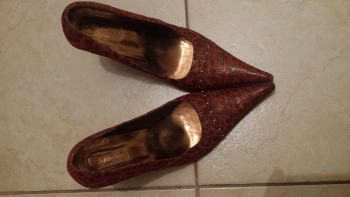 Pantofi dama Marelbo, noi, piele naturala. Livrare gratuita!