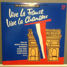 VIVE LA FRANCE - 2LP BOX SET cu:PIAF, MACIAS.... (1989/EMI REC/RFG) - VINIL/VINYL - Muzica Pop emi records
