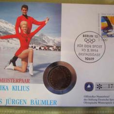 GERMANIA - FDC si Moneda 1 Krone 1993 Norvegia - 1994