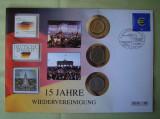 GERMANIA - FDC si Monede 1 Euro 2002, 1 Mark 1958, 1 Mark 1982 DDR - 2005, Europa