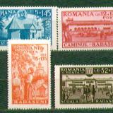 Romania 1944 Caminul Cult. Radaseni serie neuzata mnh - Timbre Romania, Nestampilat