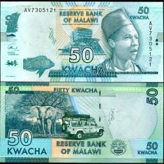 MALAWI- 50 KWACHA 2015- P NEW- UNC!! - bancnota africa