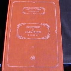 BOETHIUS SI SILVIANUS-SCRIERI-PARINTI SI SCRIITORI BISERICESTI-ART. TEOLOGICE-- - Carti Istoria bisericii
